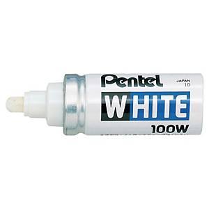 Pentel White X100W paint marker, breed, ronde punt, wit, per lakmarker