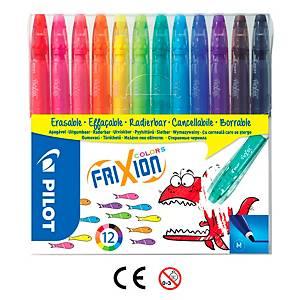 Smazatelné fixy Pilot Frixion Colours, balení 12 barev