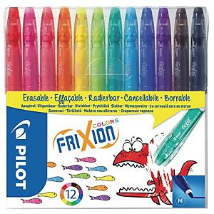 Fiberpen Pilot FriXion Colors, 1 mm, pakke a 12 farver