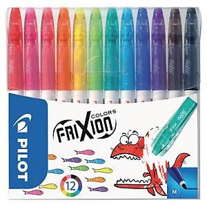 Fiberpen Pilot FriXion Colors, 1mm, förp. med 12färger