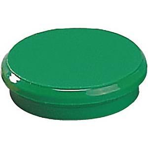 Magnet Dahle, rund, 24 mm, grøn, pakke a 10 stk.