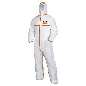 Uvex Silwear 4B wegwerp overall categorie 3, maat XXL, wit/oranje, per stuk