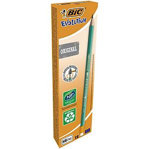 Bic Evolution Original HB Pencil Graphite with Eraser End - Box of 12