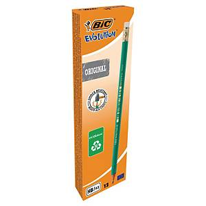 Bic Ecolutions Evolutions pencil HB eraser tip - box of 12