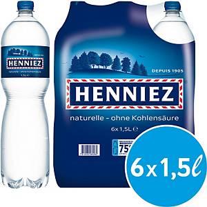 Eau minérale Henniez bleu, sans gaz carbonique, 6 bouteilles de 1,5 l