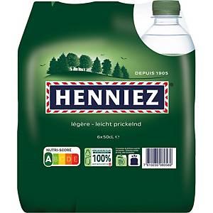 Eau minérale Henniez vert, légèrement gazéifiée, 6 bouteilles de 50 cl