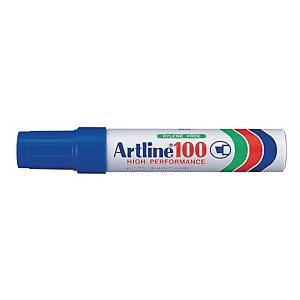 Permanent merkepenn Artline 100, skrå spiss, blå