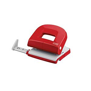 NOVUS E216 2HOLE PAPER PUNCH 16SHT RED