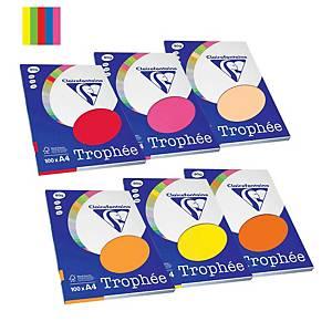 Resma de 100 folhas de papel Trophée - A4 - 80 g/m² - cores intensas sortidas