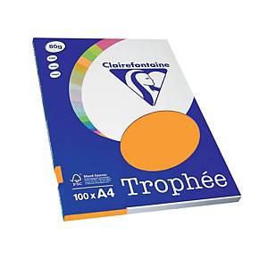 Resma de 100 folhas de papel Trophée - A4 - 80 g/m² - clementina pastel