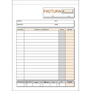 Talonario facturas - 50 hojas con duplicado - 148 x 210 mm