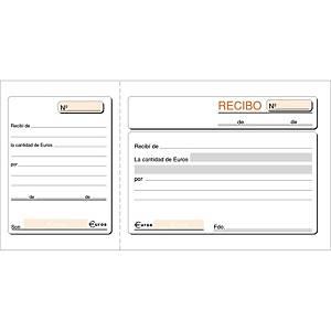 Talonario recibos - 100 hojas sin duplicado - 208 x 109 mm
