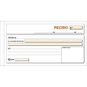 Talonario recibos - 100 hojas con duplicado sin matriz - 208 x 109 mm