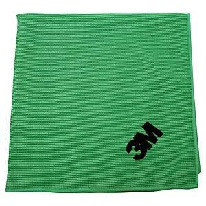Pack 10 panos absorventes microfibra Scotch Brite Esencial - 36 x36 cm - verde