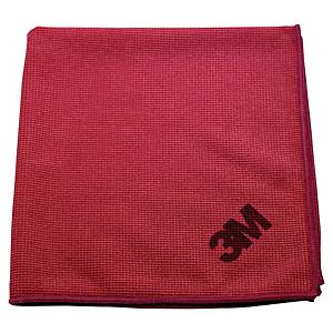 Mikrofiberklud 3M Scotch Brite Essential, rød, pakke a 10 stk.