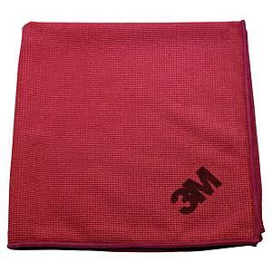 Mikrofiberklut 3M Scotch Brite Essential, rød, pakke à 10 stk.