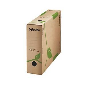 Archivačná krabica Esselte Eco, 8 cm, prírodní hnedá, balenie 25 kusov