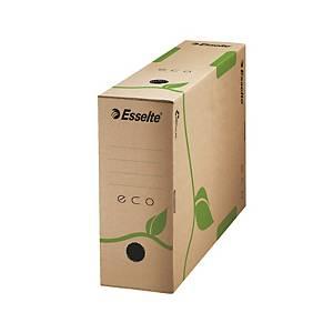 Esselte archiváló doboz Eco, 10 cm, természetes barna, 25 darab/csomag