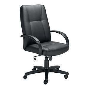 Fotel menadżerski NOWY STYL Amado, ekoskóra, czarny