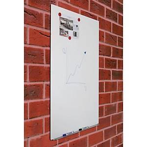 Rocada randloos whiteboard, 75 x 115 cm, wit