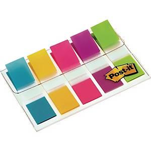 Haftmarker Post-it Index Mini 6835CBEU, 11,9x43,2 mm, 5x20 Haftstreifen, farbig