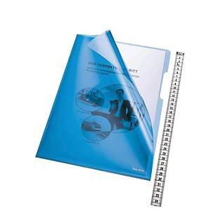 Prezentačný obal na dokumenty Bene, typ L, A4, modrý, balenie 100 kusov