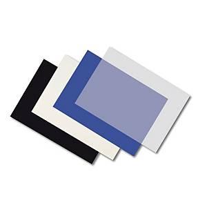 Pack de 100 capas de encadernação - A4 - PVC - preto