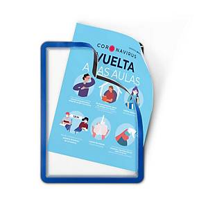 Pack com 2 bolsas adesivas porta-anúncios Magneto - A4 - PVC - azul