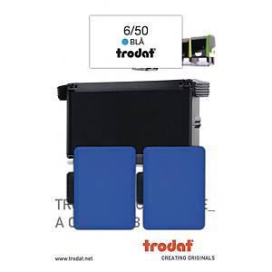 Stempelpude Trodat 6/50, blå, pakke a 2 stk.