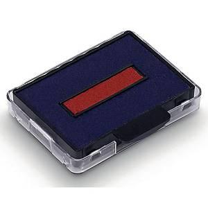 Tampons encreurs de rechange Trodat 6/50, rouge/bleu, Emb. de 2 pces.