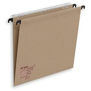 Pack de 25 carpetas colgantes Fade - folio - kraft - lomo V