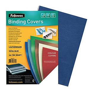 Fellowes FSC Certified A4 Binding Cover 250gsm Royal Blue - Pack of 100