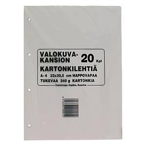 Kartonkilehti valokuva-albumiin 22x30,5cm 240g, 1kpl=20 arkkia