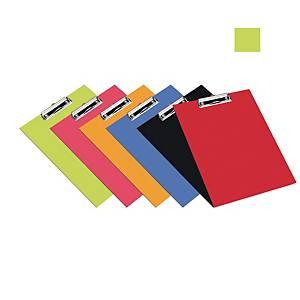 Bantex PVC Standard FC Clipboard Cobalt Lime