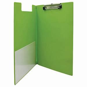 Bantex Foldover Strong PVC FC Clipboard Lime