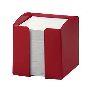 Durable Note Box 90 X 90mm Capacity 800 Paper Notes Red