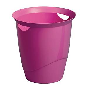 Durable Waste Basket Pink - 16l  Capacity