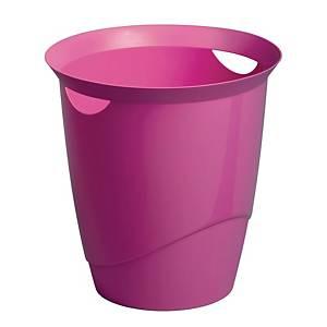 Durable Waste Basket Pink - 16l  Capacity