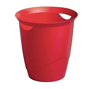 Durable Waste Basket Red - 16l Capacity
