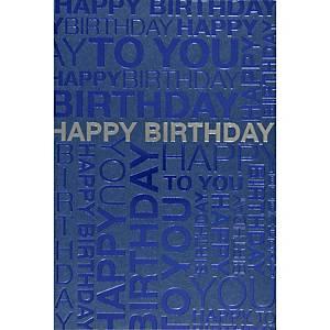 Geburtstagkarte ABC, 117x173 mm, englisch