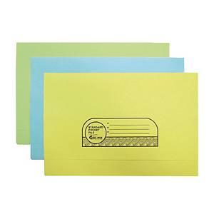ABBA Manila Card Pocket File Yellow