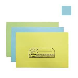 ABBA Manila Card Pocket File Blue
