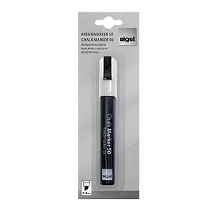 Sigel Chalk Marker Chisel Tip 1.5m Line Width - White