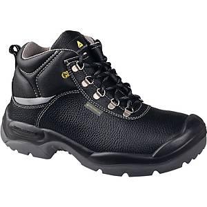 Chaussures de sécurité hautes Deltaplus 728, S3, noires, pointure 43, la paire
