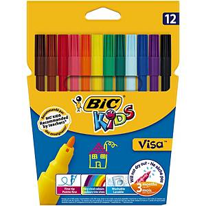 Bic Kids Visa feutres couleurs assorties - le paquet de 12