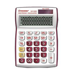 TIMEBIRD SJC-330R DESKTOP CALCULATOR RED