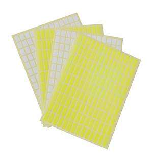 ABBA Yellow Labels 8 X 20mm - Pack of 1260 Labels