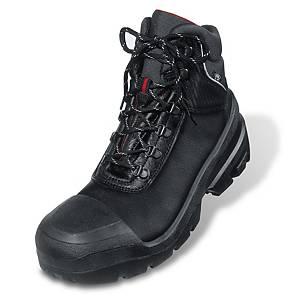 Uvex Quatro Pro Safety Boot Black 43 (Size 9) With Steel Midsole