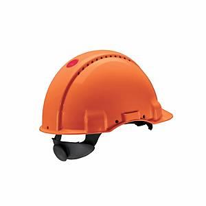 Casque de sécurité 3M G3000, en ABS, plage de réglage 54-62cm, orange