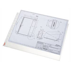 Esselte Premium A3 Top Opening Landscape Punched Pockets - Pack of 50